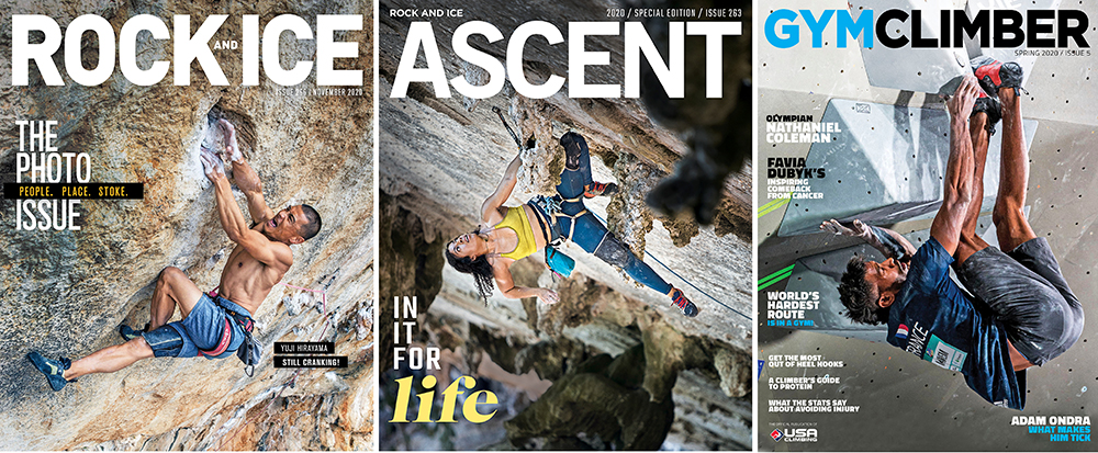 """""""Rock and Ice"""", """"Ascent"""", """"Trail Runner"""" и """"Gym Climber"""""""