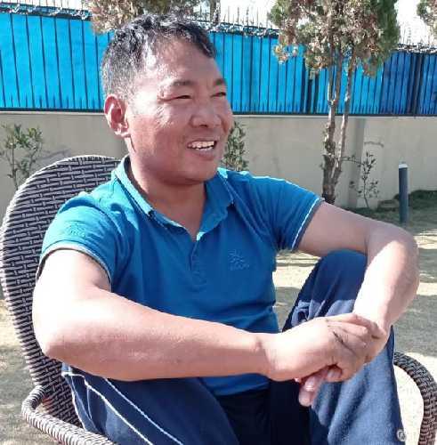 Мингма Шерпа (Mingma Sherpa) во время интервью
