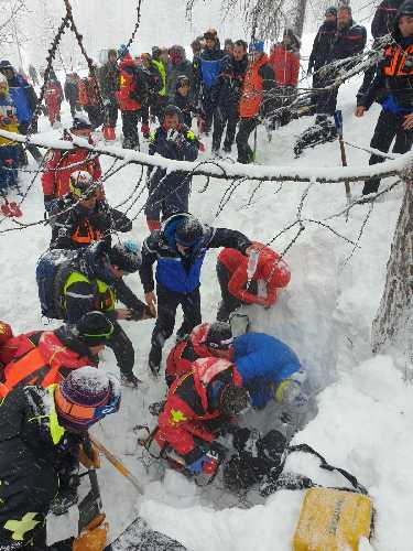 Спасработы во Французских Альпах 28 января 2021 года