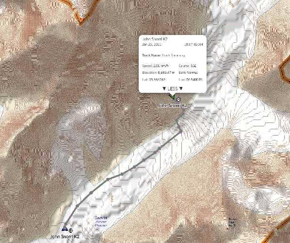 спуск команды Джона Снорри с отметки 6800 метров. 25 января 2021 года