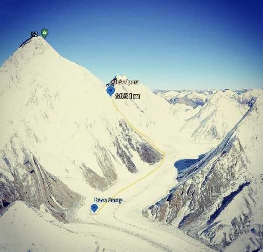 маршрут на отметку 6800 метров