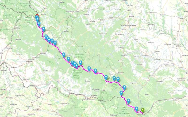 маршрут прохождення по найдовшому та найскладнішому гірському маршруті в Україні