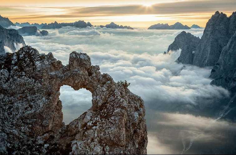 Сердце Сан-Лукано в Доломитах Беллуно