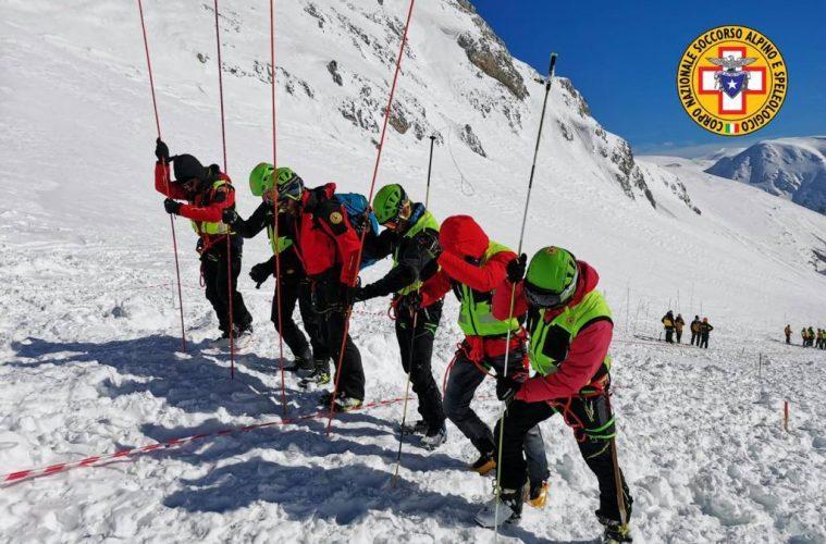 Поисковые работы на склоне горы Велино (Monte Velino)