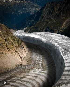 Назад в будущее: самый большой ледник Франции Мер-де-Глас сравнили с фотографией 120 летней давности