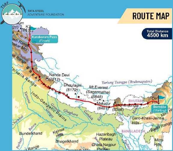 маршрут похода