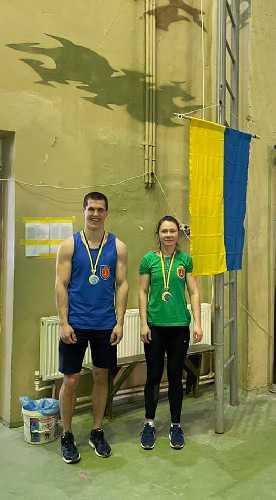 На фото - победители соревнований мастер спорта Украины Колкотина Татьяна и мастер спорта международного класса Павленко Константин
