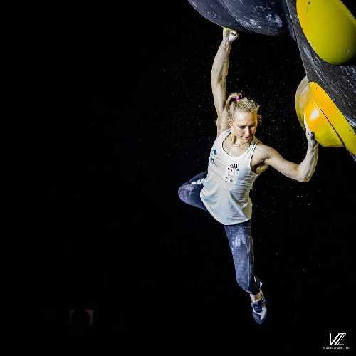 Янья Гарнбрет (Janja Garnbret, Словения) - победительница этапа Кубка Мира в Майренгене. 2021 год