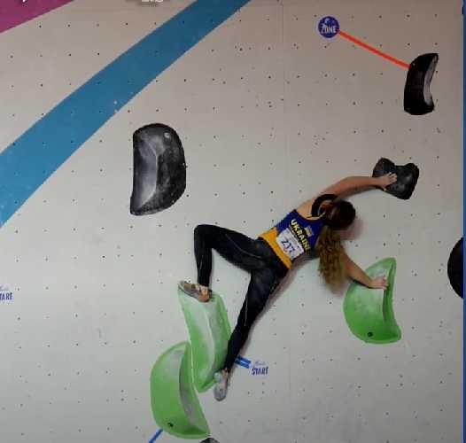 Ксения Захарова - в финале первенства Европы по скалолазанию