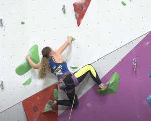 Ксения Захарова - седьмая в дисциплине трудность в финале Первенства Европы по скалолазанию