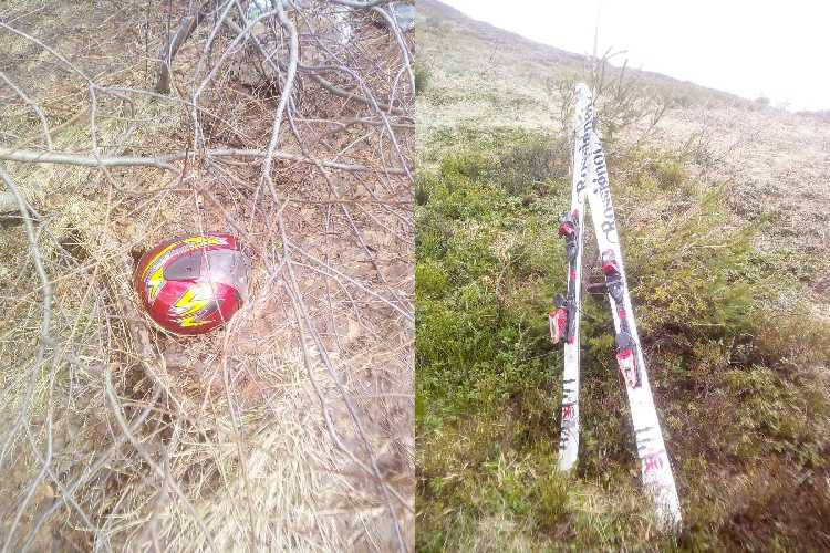 спасатели обнаружили на склоне горы Магура  лыжную экипировку погибшего в Карпатах туриста из Киева
