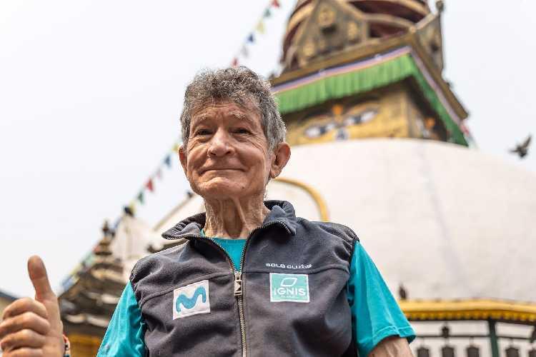 82-летний Карлос Сория (Carlos Soria) в Непале.Весна 2021 года. Фото Carlos Soria