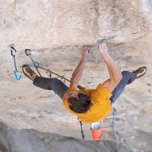 "Джонатан Сигрист (Jonathan Siegrist) на маршруте ""Peruvian Necktie"" 9b"