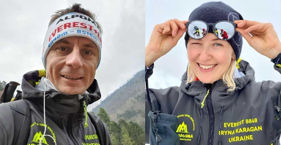 харьковчанин Валентин Сипавин и альпинистка из Днепра - Ирина Караган.
