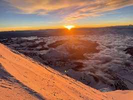 Фото Хрысти Мохнацкой с восхождения на Эверест