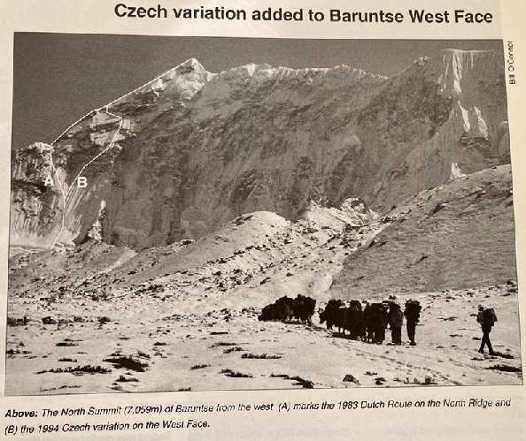 линия B на архивной фотографии - чешский маршрут на северо-западе Барунцзе