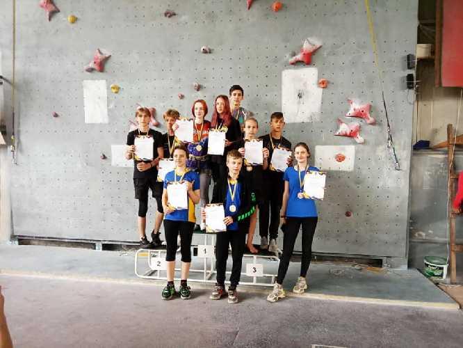 В Кременчуге завершился Чемпионат Украины по скалолазанию среди учащихся.