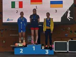 Украинские спортсмены взяли две бронзы на молодежном Кубке Европы по скалолазанию