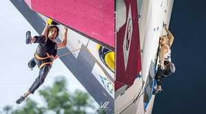 Янья Гарнбрет и Шон Бейли - победители этапа Кубка Мира по скалолазанию в Вилларе