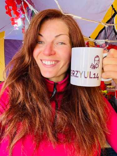 Юлия Зи (г. Николаев / Сан-Франциско) в базовом лагере Броуд-Пик