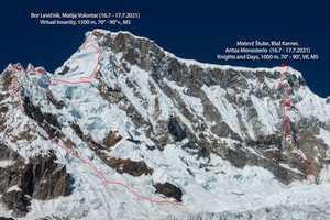 Словенские альпинисты открывают в Перу два новых маршрута на шеститысячник Уалькан