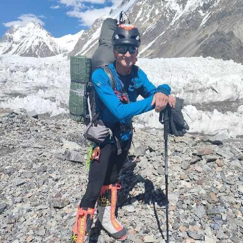 Рик Аллен в своей последней экспедиции на К2. Фото: Мирза Али