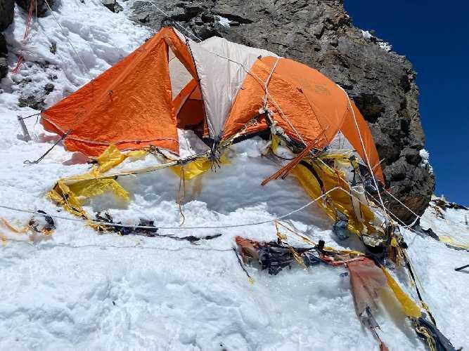 Другий табір. Сходження на К2. Фото Оксана Літинська