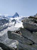 восхождение на вершину Вайсхорн (Weisshorn) высотой 4505 метров в Пеннинских Альпах в Швейцарии.  Фото Николай Колосовский (Хмельницкий) и Александр Талабко (Киев)