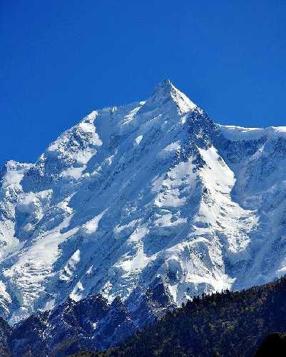 Ракапоши (Rakaposhi) высотой 7788 метров. Вид на юго-западную сторону. Фото Karrar Haidri