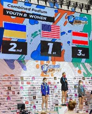 Украинская скалолазка Анастасия Кобец заняла второе место в комбинированном зачете молодежного Чемпионата Мира в Воронеже