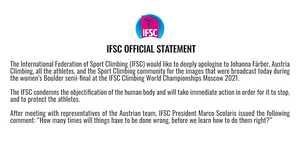 И снова о сексизме в скалолазании: на Чемпионате Мира в прямой трансляции показали
