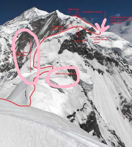 Ракапоши. Подробный маршрут на гребне горы. Фото explorersweb . com