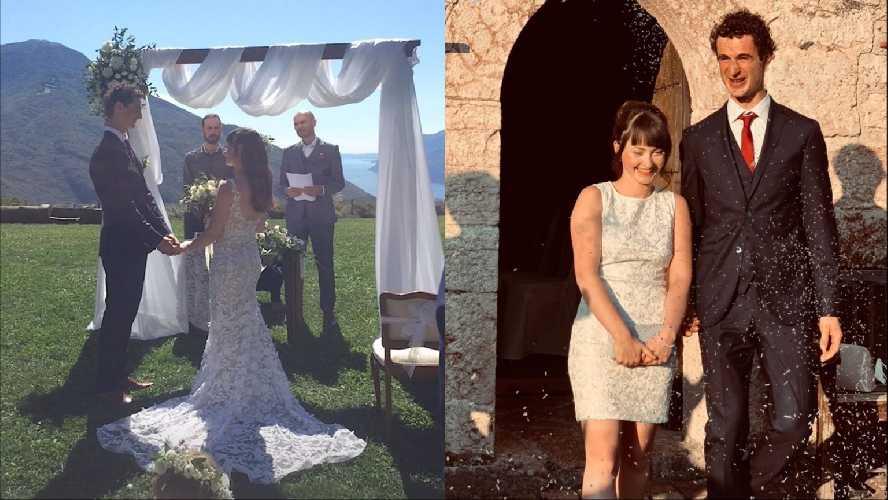 Адам Ондра и Ива Веймолова сыграли свадьбу на берегу озера Гарда