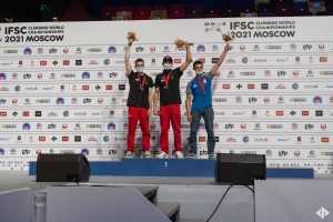 Украинский спортсмен Федор Самойлов выиграл бронзу Чемпионата Мира по скалолазанию в Москве!