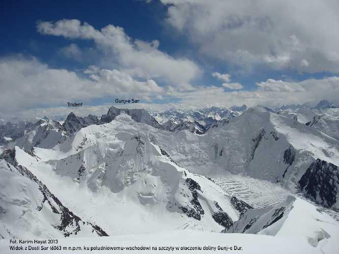 Польские альпинисты открывают в Пакистане две новые горные вершины: Гунж-е Сар (Gunj-e Sar, 6150 м) и Пик Тридент (Trident Peak, 6153 м).