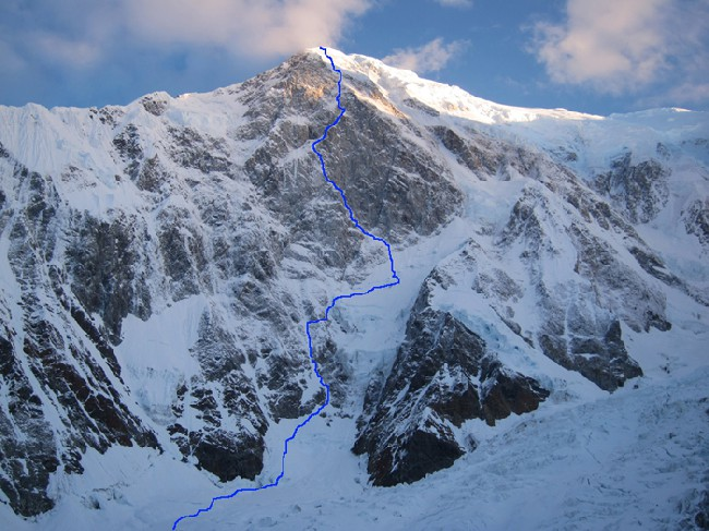 3200-метровый маршрут по Юго-Восточному склону Foraker (5304m), Аляска