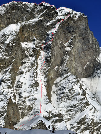 Первопрохождение западной стены (1600 м) Vasuki Parbat (6792m), Индия