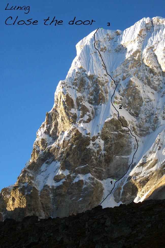 Первопрохождение Lunag 1 по юго-восточному склону (6830m), Непал: 3 лагеря