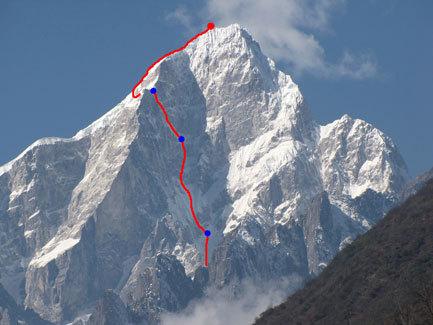 Первопрохождение по восточному склону (2500 м) Edgar (6618m), Китай, Сычуань