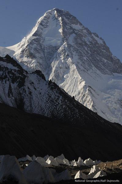 K2. Северный склон.  Фото Ralf Dujmovits