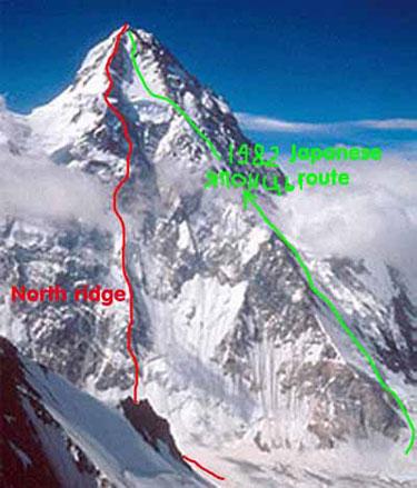 K2. маршрут по северному склону