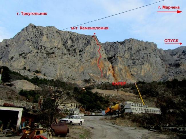 Новый маршрут Каменоломня 5Б, Крым.
