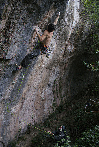 "Daniel Jung на маршруте ""Jungle Speed"" 9a"