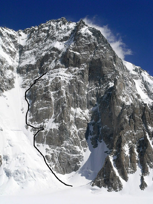 Восточный пик Saser Kangri II - часть маршрута Mark Richey