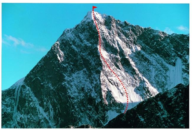 Маршрут Mark Richey на вершину Yamandaka (6218 м)
