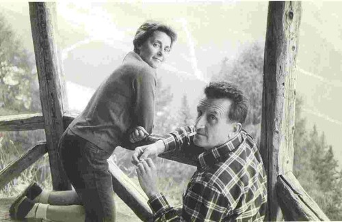 Жорж Ливанос (Georges Livanos) с женой Соней в своем доме