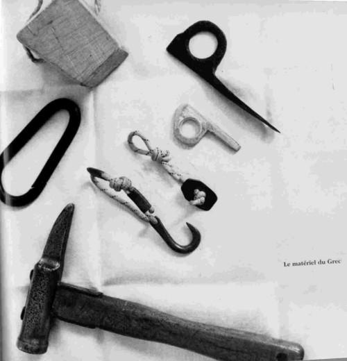 Альпинистское снаряжение Жоржа Ливаноса (Georges Livanos): 40-50-ые годы