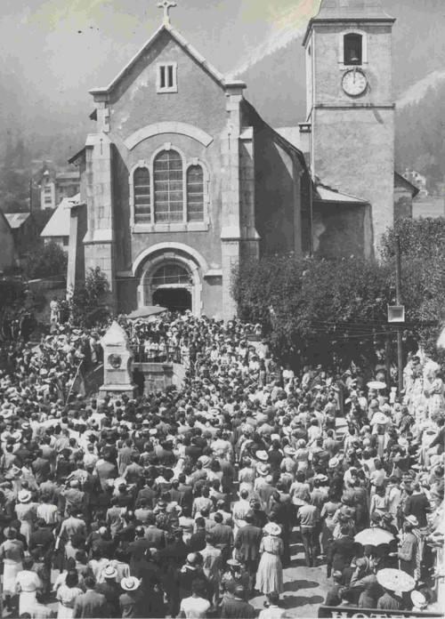 1938 год. ежегодный фестиваль горных гидов в Шамони