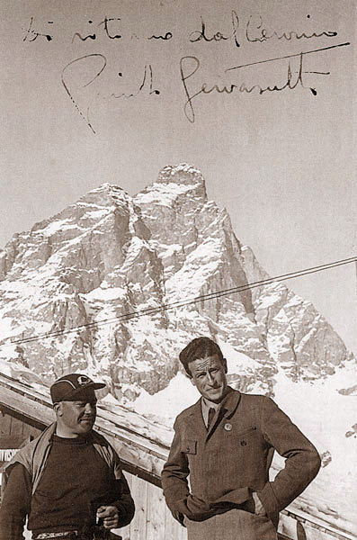 Giusto Gervasutti 1936 год. после восхождения на Маттерхорн