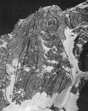 Маршрут Giusto Gervasutti (№4) на южный склон Монблана
